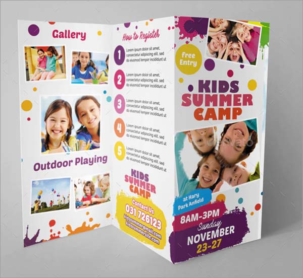Kids Summer Camp PSD Trifold