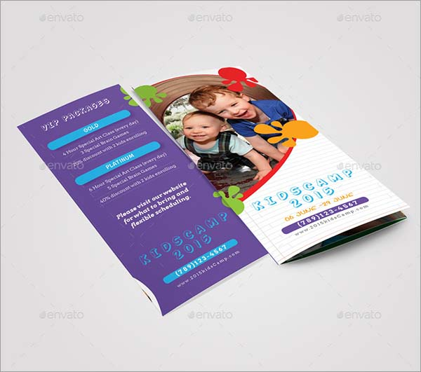 Kids Summer Camp Trifold PSD Brochure