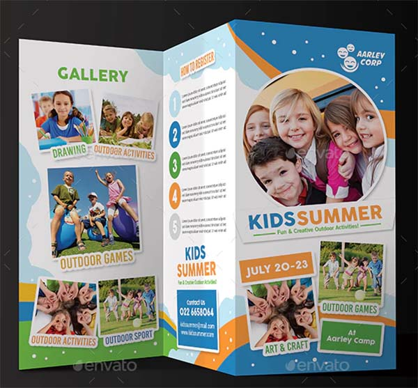 Kids Summer Camp Trifold Template