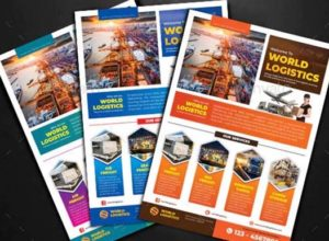 Logistics Flyer Templates