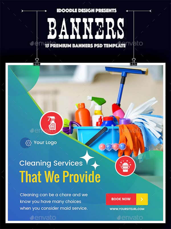 Marketing Cleaning Services Banners