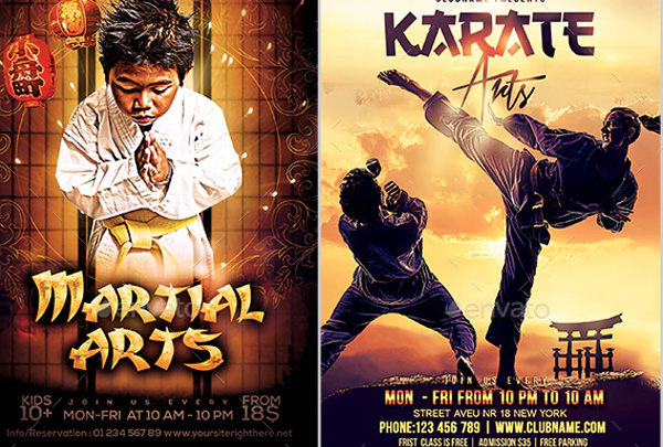 Martial Arts Flyers Bundle