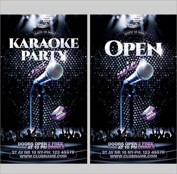 Modern Karaoke Flyer Template