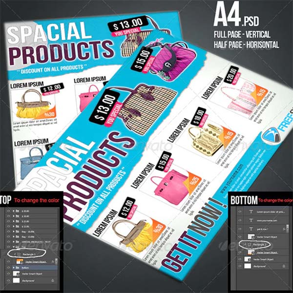 Modern Product PSD Flyers