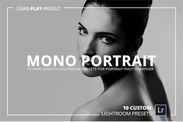 Mono Portrait PSD Lightroom Presets