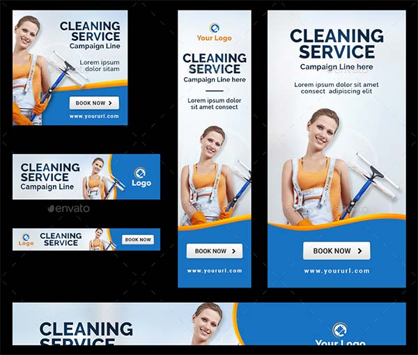 Multipurpose Cleaning Service Banners