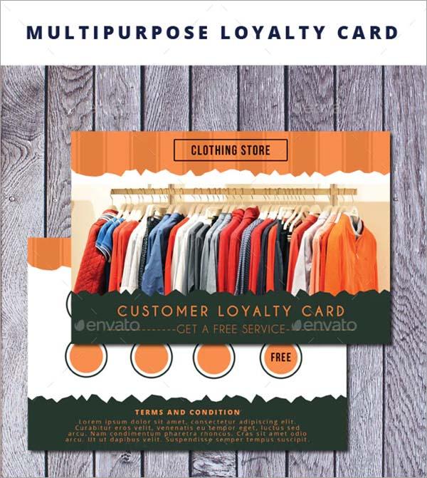 Multipurpose Loyalty Card Template