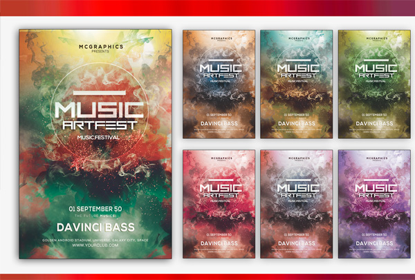 Music Art Fest Flyer Template