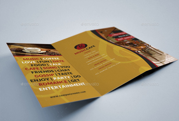 Music Cafe Brochure Templates