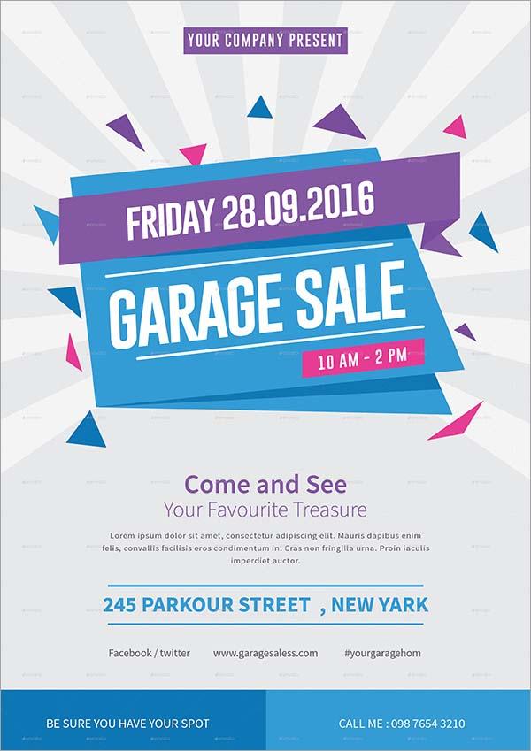 New Garage Sale Flyer