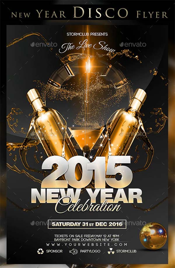 New Year Disco Flyer