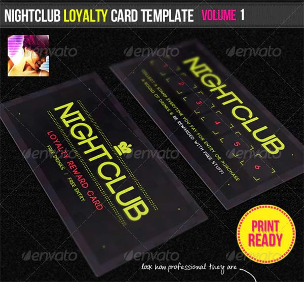 Nightclub Loyalty Card Template