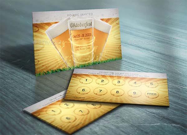 Oktoberfest Loyalty Cards Template