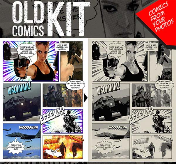 Old Comics Generator Action Kit for Photoshop