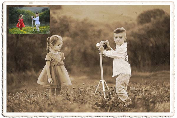 Old Photo Cracked Photoshop Action