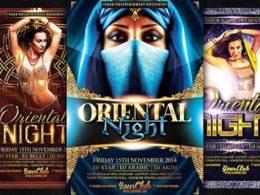Oriental Flyer Templates
