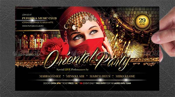 Oriental Party Poster and Flyer