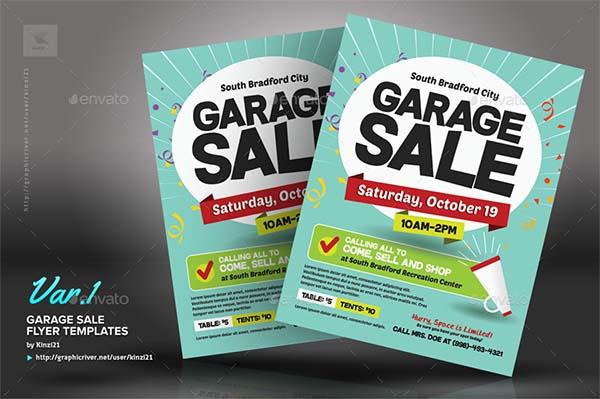 PSD Garage Sale Flyer Templates
