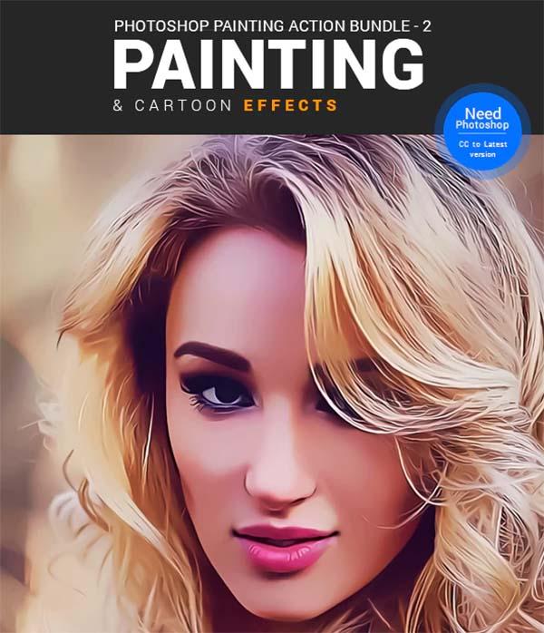Painting & Cartoon Action Bundle