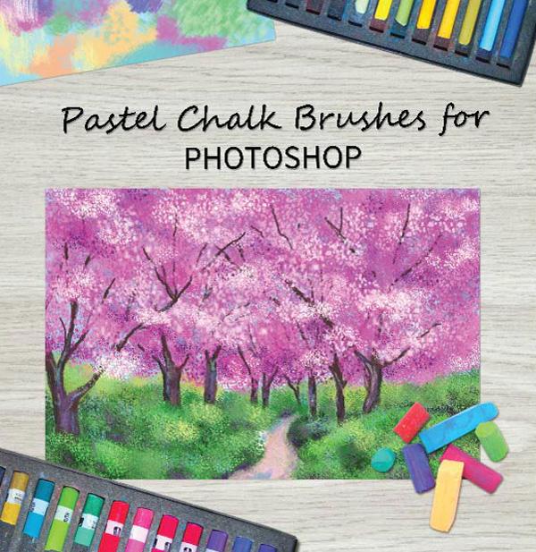 Pastel Chalk Brushes for Photoshop