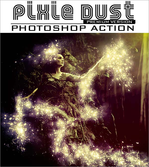 Pixie Dust Photoshop Action