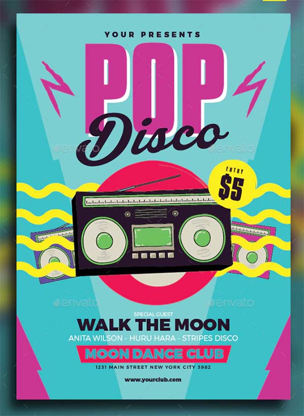 Pop Disco Flyer and Poster