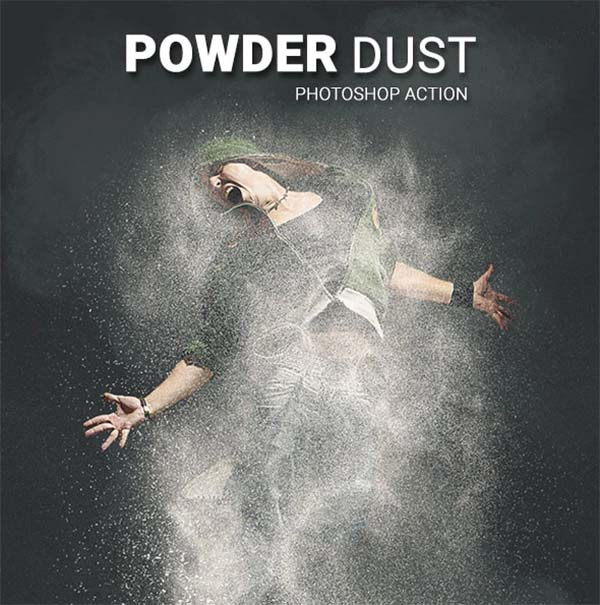 Powder dust Photoshop Action