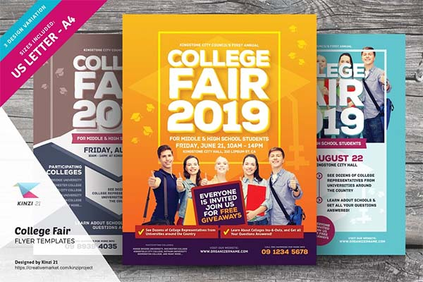 College Fair Flyer Print Templates