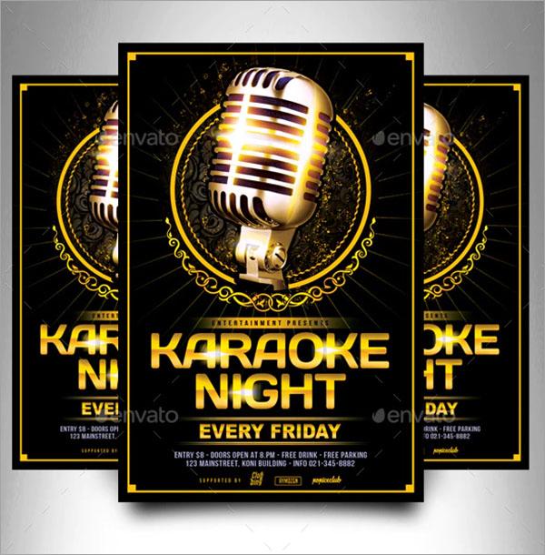 Print Karaoke Flyer Template