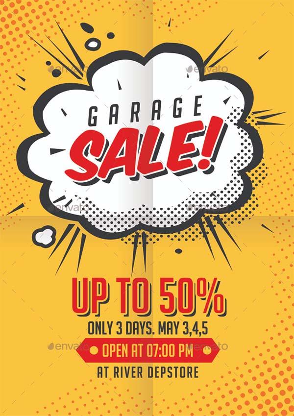 Print ready Garage Sale Flyer
