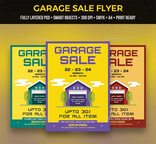 Product Garage Sale Flyer