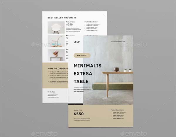 Product InDesign, INDD Flyer