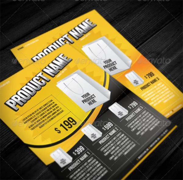 Product PSD Flyer Templates