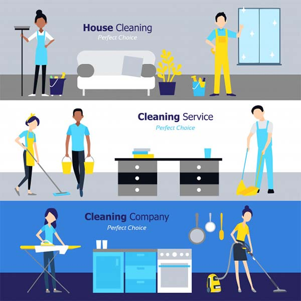 Professional Cleaning Free PSD Banners