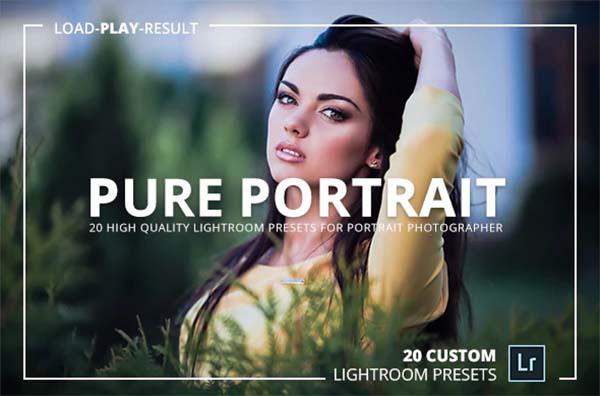 Pure Portrait Lightroom Presets PSD Files