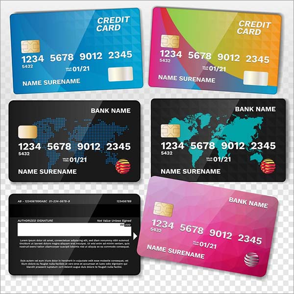 Realistic Loyalty Credit Card Set