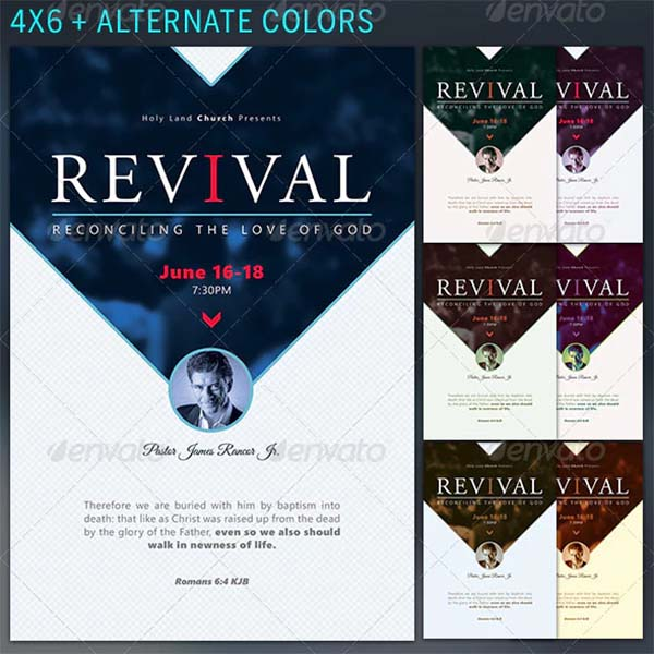 Reconciliation Revival Church Flyer Template