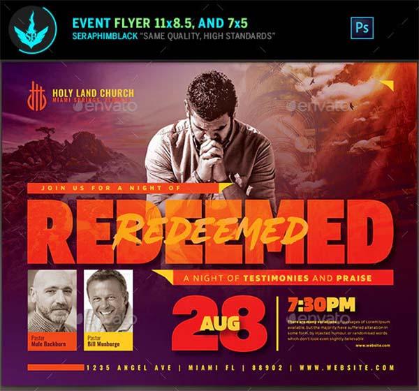 Redeemed Revival Church Flyer Template