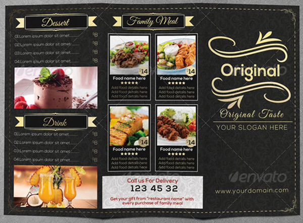 Restaurant Food Menu Brochure
