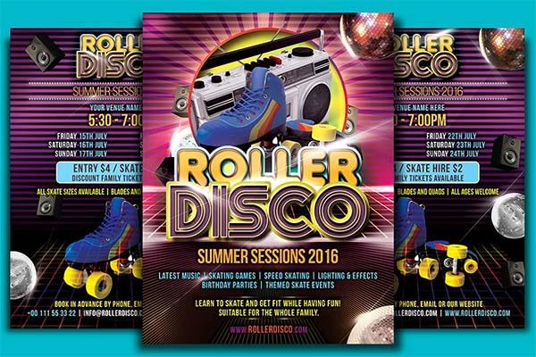 Roller Disco Flyer Template