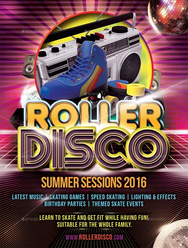 Roller Disco PSD Flyer Template