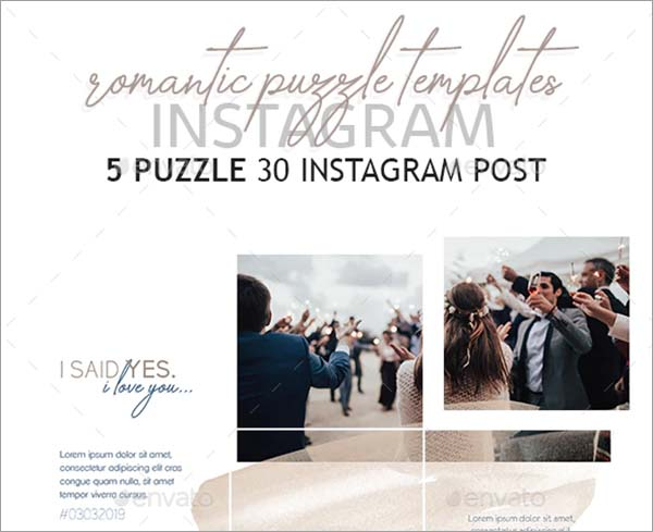 Romantic Instagram Puzzle Design