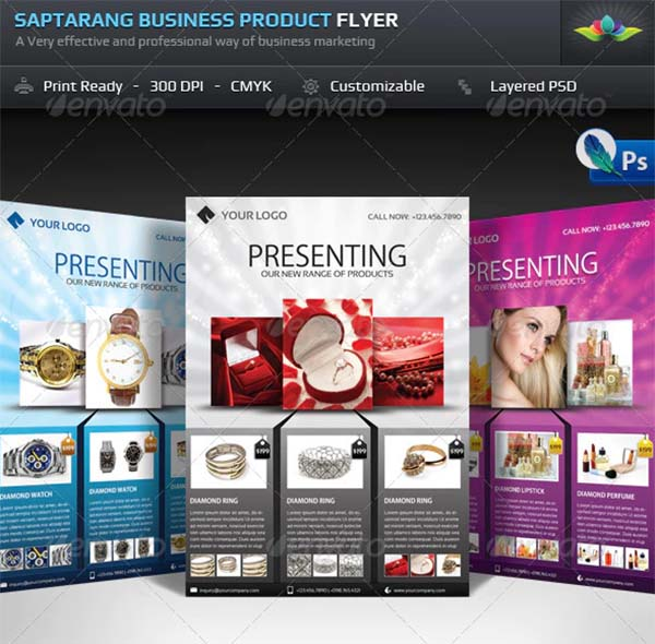 Saptarang Business Product Flyer