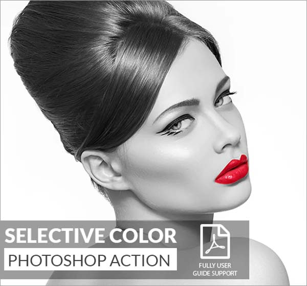 Selective Color Photoshop Action Style