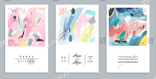 Set of Artistic Creative Flyer Template