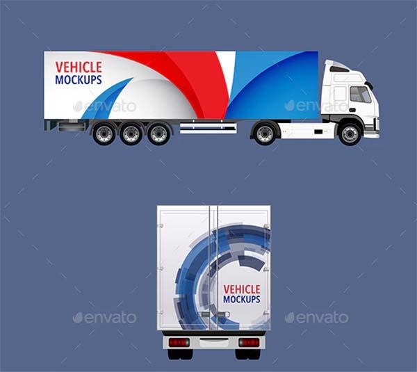 Set of Truck Mockups