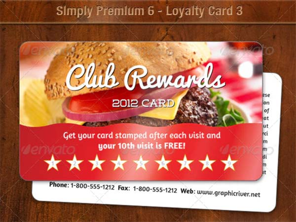 Simply Premium Loyalty Card Template