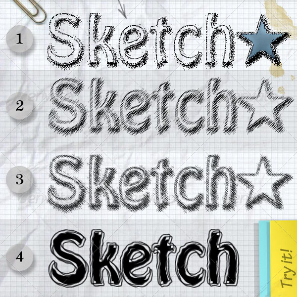 Sketch Photoshop Styles