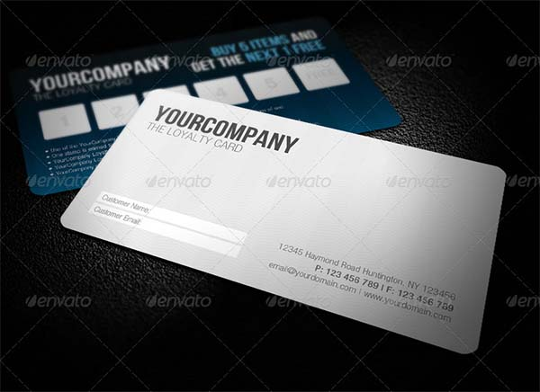Sleek Professional Loyalty Card