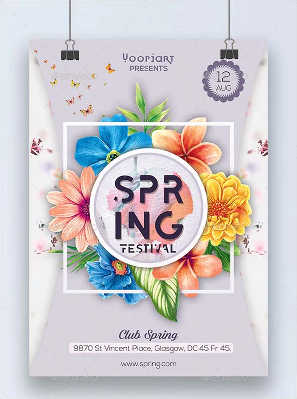 Spring Beach Flyer Template